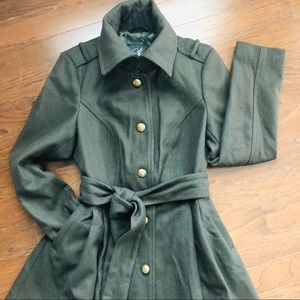 Sean John Military inspired belted coat
